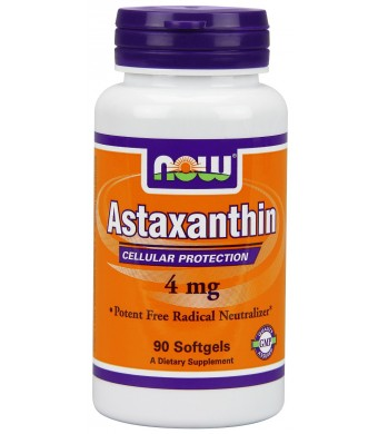 Now Foods Astaxanthin Softgels, 4 mg, 90 Count