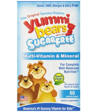 Yummi Bears Multivitamin and Mineral, Sugar Free, 60 Count