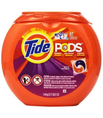 Tide Pods Detergent, Spring Meadow, 57 Count