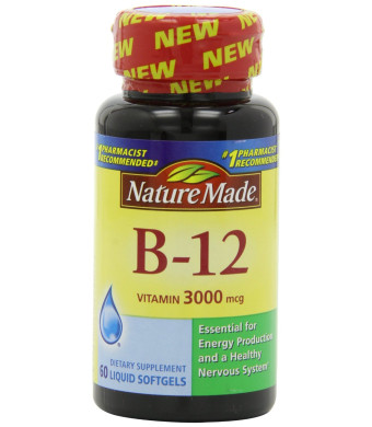 Nature Made Vitamin B-12 Softgels, 3000 Mcg, 60 Count