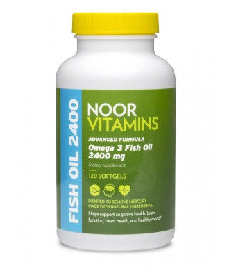 NoorVitamins Omega 3 Fish Oil - 120 Softgels - Halal Vitamins