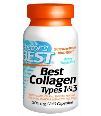Doctor's Best Collagen Dietary Supplement, Types 1 and 3, 240 Count