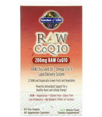 Garden of Life RAW CoQ10, 60 Capsules