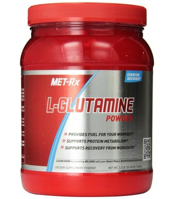 MET-Rx L-Glutamine Diet Supplement Powder, 2.2 Lbs 1000 Gram