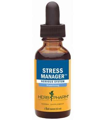 Herb Pharm Stress Manager Herbal Formula with Rhodiola and Holy Basil Extracts - 1 Ounce