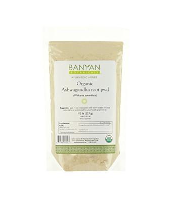 Banyan Botanicals Ashwagandha Powder - Certified Organic, 1/2 Pound - Withania somnifera - A traditional rejuvenative for vata and kapha that promote
