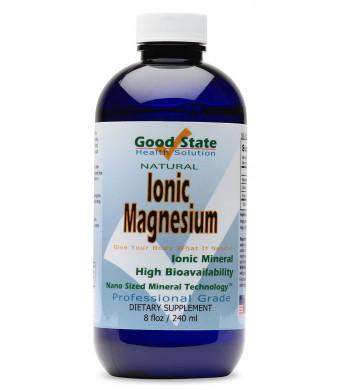 Good State - Liquid ionic minerals magnesium (96 servings at 100 mg elemental - plus 2 mg fulvic acid) 8 floz