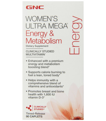 GNC Women's Ultra Mega-Energy and Metabolism 90 Caplets