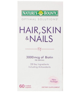 Nature's Bounty Hair, Skin and Nails Formula, 60 Coated Caplets