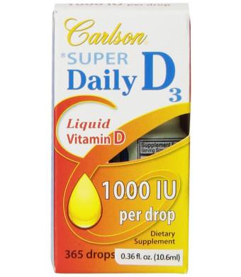 Carlson Labs Carlson Laboratories Super Daily D3 1000IU Supplement, 0.36 Fluid Ounce