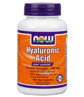 Now Foods Hyaluronic Acid 2X Plus Veg Capsules, 100 mg, 120 Count