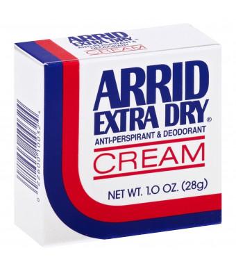 Arrid Extra Dry Antiperspirant and Deodorant Cream 1 Oz (12 Pack)