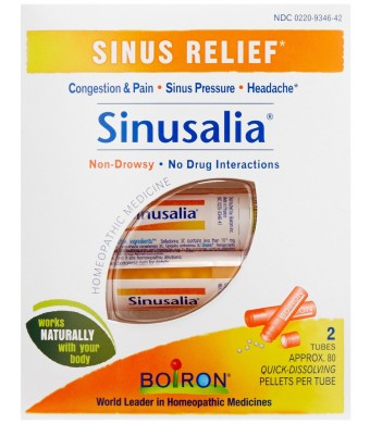 Boiron Sinusalia Sinus Pellets, 2 tubes, approx. 80 pellets per tube