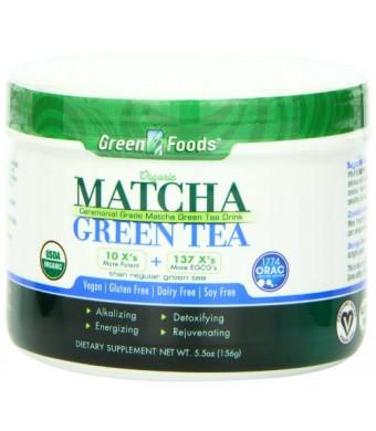 Green Foods Organic Matcha Green Tea, 5.5 Ounce