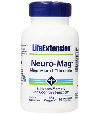 Life Extension Neuro-Mag Magnesium L-Threonat Vegetarian Capsules, 90 Count