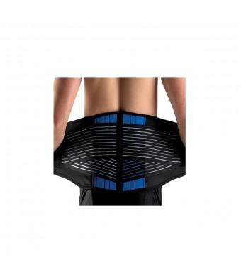 Deluxe Double-Pull Neoprene Lumbar Support Belt - Lower Back Support Brace - Exercise Belt (Medium (28-33''/70-86cm))