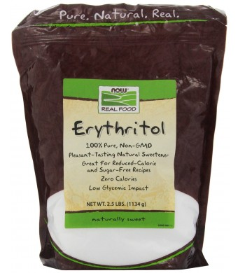100% Pure Erythritol Crystalline Now Foods 2.5 lbs Granules