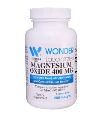 Magnesium Oxide 400** Compare to MAG-OX 400  - 250 Tablets #6802