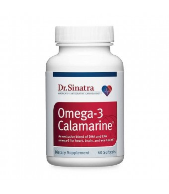 Dr. Sinatra's Omega-3 Calamarine - Heart Health Supplement for Healthy Blood Pressure and Cholesterol Ratios, 60 Softgels (30-Day Supply)