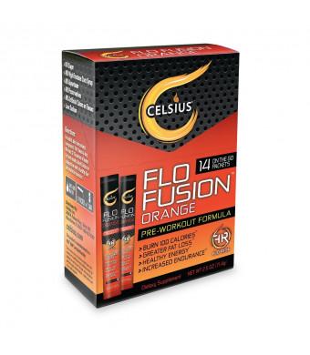 "Celsius ""Flo Fusion""  Orange On-the-Go Packets, 14-Counts"