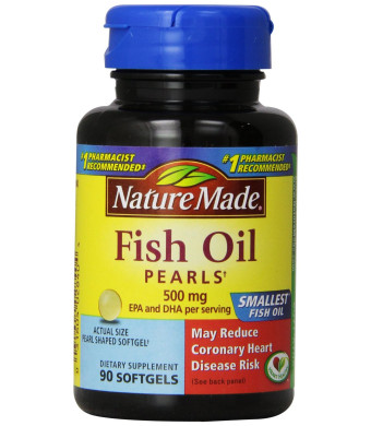 Nature Made Fish Oil Pearls 500 Mg Softgel, 90 Count