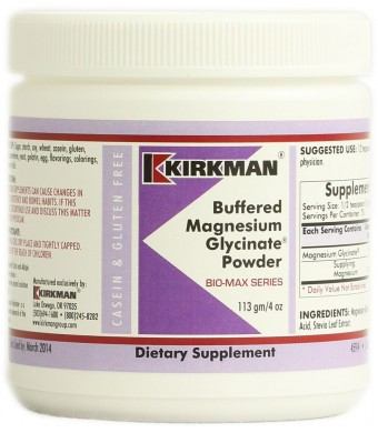 Kirkman Buffered Magnesium Glycinate Powder -- 4 oz