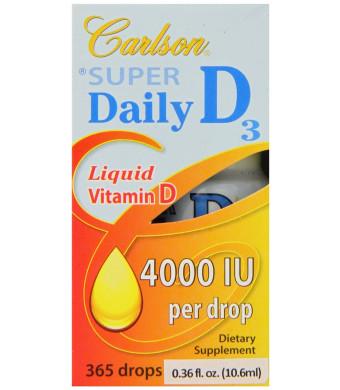 Carlson Labs Carlson Laboratories Super Daily D3 4000IU Supplement, 10.6 ml, 0.36 Fluid Ounce