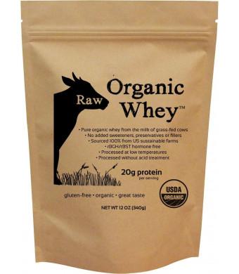 Raw Organic Whey - USDA Certified Organic Whey Protein, 12oz