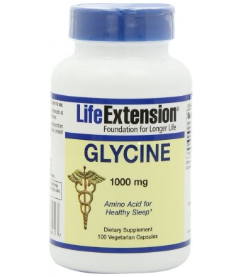 Life Extension Glycine Vegetarian Capsules, Mg, 100 Count