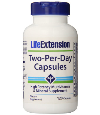 Life Extension Two Per Day Capsules, 120 Count