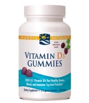 Nordic Naturals Vitamin D3 Gummies-Wild Berry-60 ct