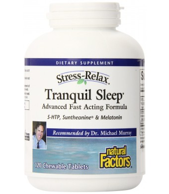 Natural Factors Stress-Relax Tranquil Sleep Tablet, 120 Count