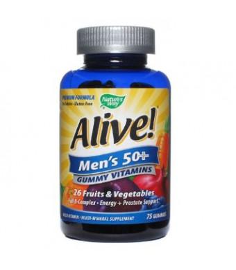 Nature's Way Alive! Men's Gummy Multi-Vitamins Chewables, 75 Count