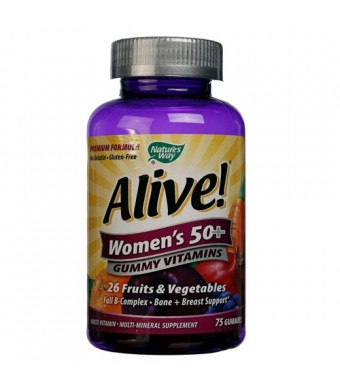 Nature's Way Alive! Women's Gummy Multi-Vitamins Chewables, 75 Count