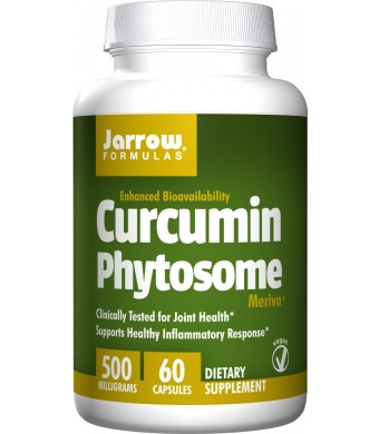 Jarrow Formulas Curcumin Phytosome Nutritional Supplements, 500 mg, 60 Count