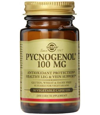Solgar Pycnogenol Vegetable Capsules, 100 Mg, 30 Count