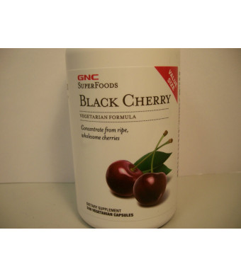 GNC Superfoods Black Cherry - Value Size 240 Vegetarian Capsules