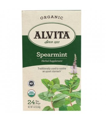 Alvita Organic Tea Spearmint, 24 Count