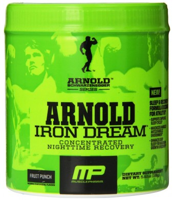 Muscle Pharm Arnold Schwarzenegger Series Iron Dream Nighttime Recovery, Fruit Punch, 5.92 Ounce (30 Servings)