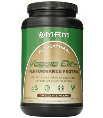MRM Veggie Elite Dietary Supplement, Chocolate Mocha, 2.4 Pound