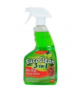 EucoClean Bed Bug Spray and Treatment Three-in-one Defense System All Natural