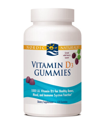 Vitamin D3 Gummies - Wild Berry Nordic Naturals 120 Gummy