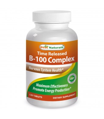 #1 B-100 120 Tablets -- Featuring Balanced B-Complex -- Supports Energy Production -- Powerful Ant