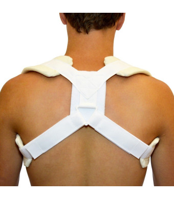 BraceAbility Figure 8 Clavicle Brace and Posture Support Strap - Medium