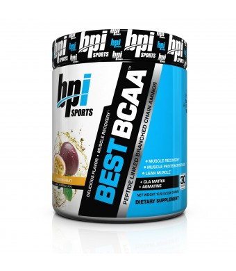 BPI Sports Best BCAA Peptide Linked Branched Chain Amino Energy Powder, Passion Fruit, 10.58-Ounce