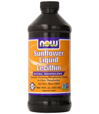 Now Foods Sunflower Liquid Lecithin, 16 Ounce