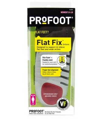 PROFOOT Flat Fix Orthotic, Women's 6-10, 1 Pair