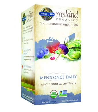 Garden of Life mykind Organics Men's Once Daily, 60c Organic Tablet