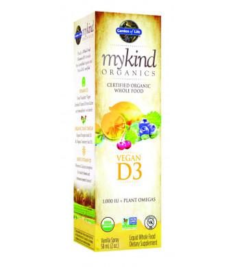 Garden of Life mykind Organics Vegan D3 Spray, 2oz Spray