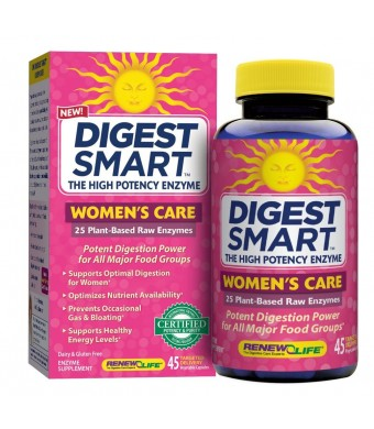 Renew Life Digest Smart Womans Care Diet Supplement, 45 Count